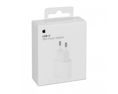 CHARGEUR SECTEUR 18W A1692 ORIGINE APPLE - USB-C POWER ADAPTATER  -  BLISTER